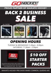 Go Hockey Back 2 Business Sale