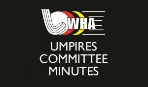 Minutes of Umpires