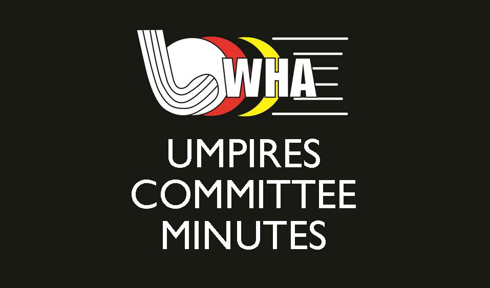 Umpires Committee Meeting
