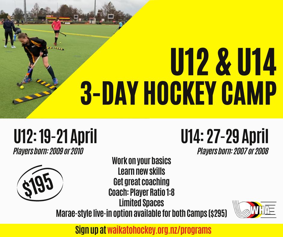 U12 & U14 April Camps