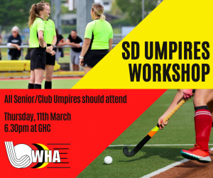 Senior Division Umpires Workshop @ Waikato Hockey