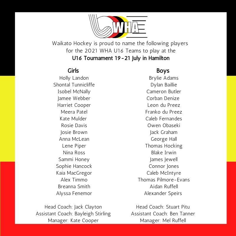 U16 Teams