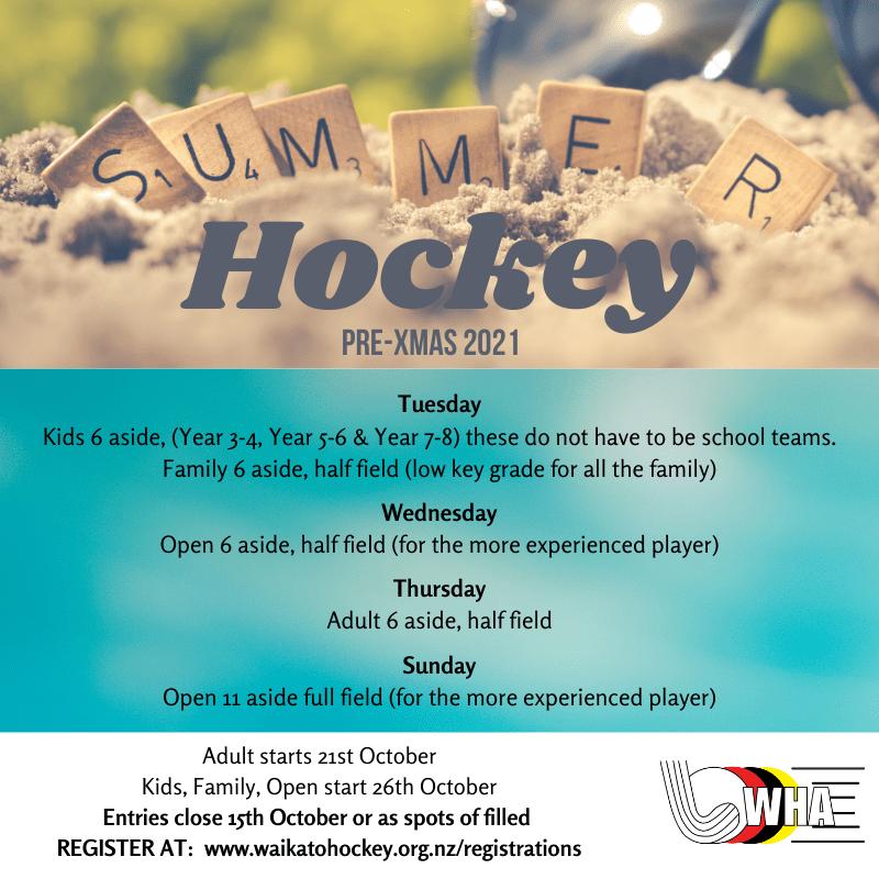 Summer Hockey (2021 Pre-Xmas)