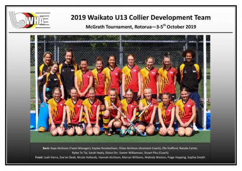 2019 u13 collier development-girls team