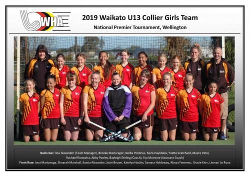 2019 u13 collier girls team