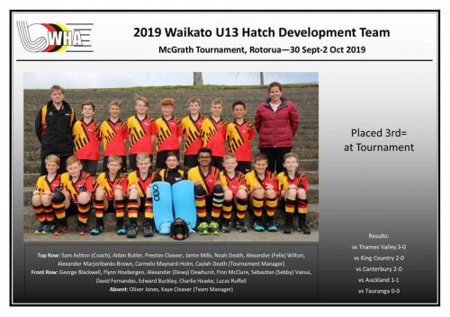 2019 u13 hatch development boys team