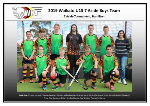2019 u15 7aside boys team