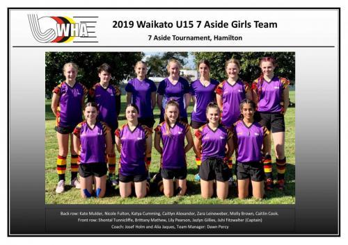 2019 u15 7aside girls team