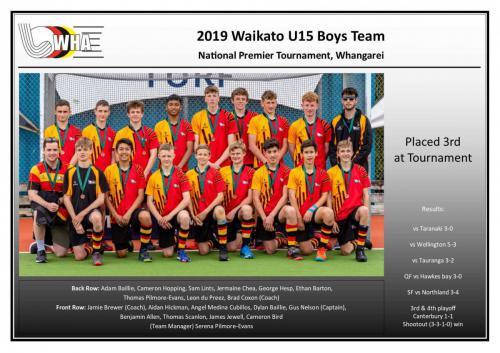 2019 u15 boys team
