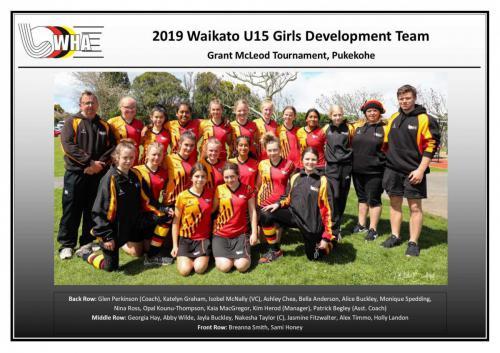 2019 u15 girls development team