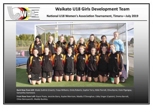2019 u18 girls development team