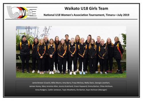 2019 u18 girls team